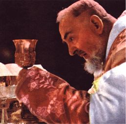 Padre Pio offers Mass