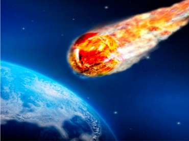 flaming asteroid hitting the earth - photo #5