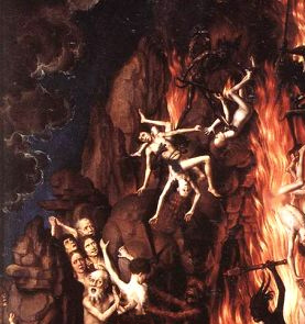 sinners falling into hell