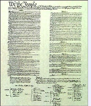 an introduction to the constitution of the united states - the american constitution the basis of all law in the united states is the constitution this constitution is a document written by outcasts of england the constitution of the united states sets forth the nation's fundamental laws.