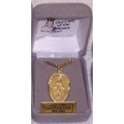 Our Lady of the Roses Medal, 1 inch gold filled