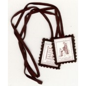 Blessed Brown Scapular - 100% Wool
