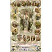 Mysteries of the Most Holy Rosary Holy Card