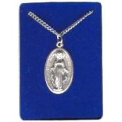 Miraculous Medal w/24 stainless steel chain