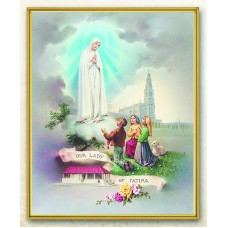 "Our Lady of Fatima Plaque 8"" x 10"""
