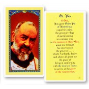 St. Pio Holy Card