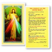 Chaplet of Divine Mercy Holy Card